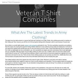 Veteran T Shirt Companies