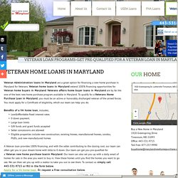 Veterans Home Buyer Loans in Maryland