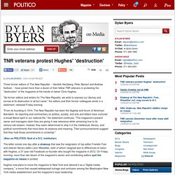TNR veterans protest Hughes' 'destruction'