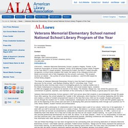 Veterans Memorial Elementary School named National School Library Program of the Year