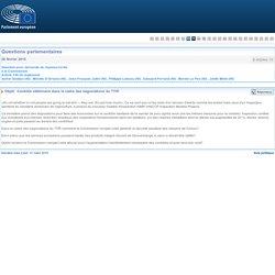 PARLEMENT EUROPEEN - Réponse à question E-002942-15 Contrôle vétérinaire dans le cadre des négociations du TTIP