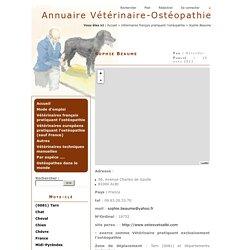 Annuaire Vétérinaire-Ostéopathie - Sophie Beaume