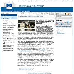 Semaine vétérinaire européenne: priorité à la traçabilité