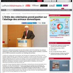 LE POINT VETERINAIRE 25/11/15 L'Ordre des vétérinaires prend position sur l'abattage des animaux domestiques