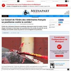 Le Conseil de l'Ordre des vétérinaires français se positionne contre la corrida !