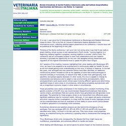 VETERINARIA ITALIANA ISSUES ONLINE 2015 - Volume 51 (4), October-December Bluetongue: a disease that does not speak 'one tongue' only