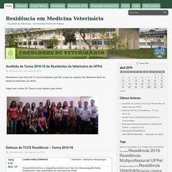 Residência em Medicina Veterinária - Faculdade de Veterinária - Universidade Federal de Pelotas