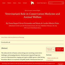 INTECH 07/02/19 Veterinarian's Role in Conservation Medicine and Animal Welfare