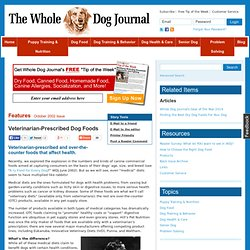 Veterinarian-Prescribed Dog Foods