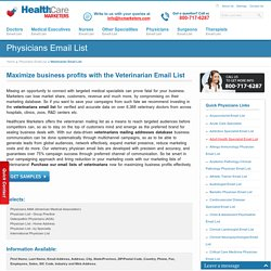 Veterinarian Email List, Mailing Addresses, Veterinarians Database