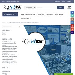 GerVetUSA Veterinary Surgical Instruments Guidelines For All Species