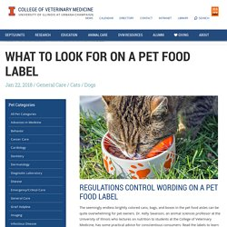 What to Look for on a Pet Food Label - Veterinary Medicine at Illinois