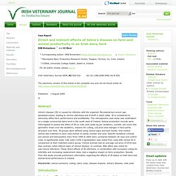 Irish Veterinary Journal 2009, 62:526-532 (1 August 2009) Direct and indirect effects of johne's disease on farm and animal prod