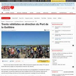 Trente vététistes en direction du Port de la Guittière