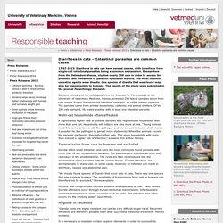 UNIVERSITY VIENNA 17/07/15 Diarrhoea in cats – Intestinal parasites are common cause