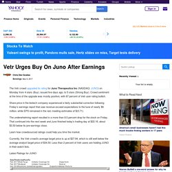 Vetr Urges Buy On Juno After Earnings
