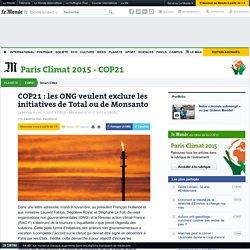 COP21 : les ONG veulent exclure les initiatives de Total ou de Monsanto