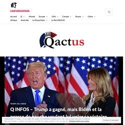 Q INFOS – Trump a gagné, mais Biden et la presse de gauche veulent lui voler sa victoire. – L'Informateur.