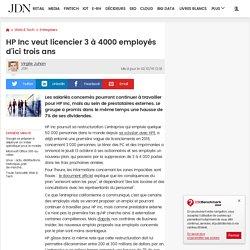 HP Inc veut licencier 3à 4000employés d'ici trois ans