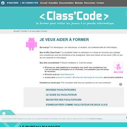 Je veux aider à former — Class´Code