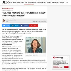 """Valérie Vezinhet (SAP):""""60% des métiers qui recruteront en 2030 n'existent pas encore"""""""