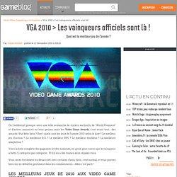 VGA 2010 > Les vainqueurs officiels sont là ! - Quel est le meilleur jeu de l'année ?