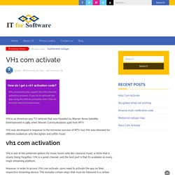 How Do I Get a VH1 Activation Code?