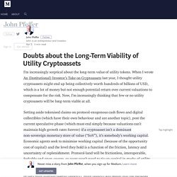 Doubts about the Long-Term Viability of Utility Cryptoassets