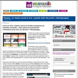 Viaeduc, un réseau social et une «grande salle des profs» (témoignages)