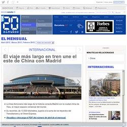 El viaje más largo en tren une el este de China con Madrid
