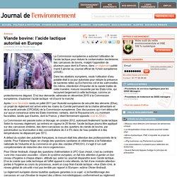 JDLE 06/02/13 Viande bovine: l'acide lactique autorisé en Europe