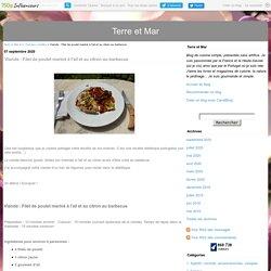 Viande : Filet de poulet mariné à l'ail et au citron au barbecue