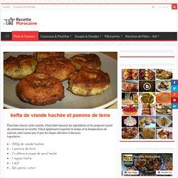 kefta de viande hachée et pomme de terre - Recette Marocaine