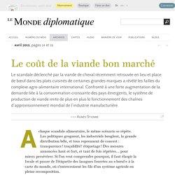 Le coût de la viande bon marché, par Agnès Stienne (Le Monde diplomatique, avril 2013)