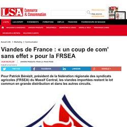 LSA 02/10/14 Viandes de France : « un coup de com' sans effet » pour la FRSEA