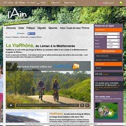ViaRhôna Ain : longer le Rhône à vélo sur la ViaRhôna dans l'Ain -