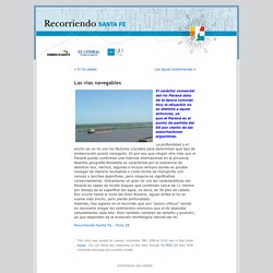 Las vías navegables « Blog Recorriendo Sta Fe