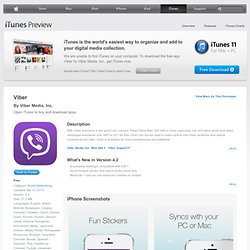 Viber - Free Phone Calls & Text for iPhone