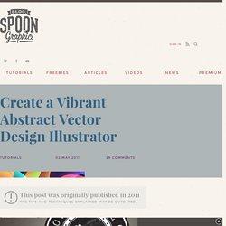 Create a Vibrant Abstract Vector Design Illustrator