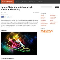 How to Make Vibrant Cosmic Light Effects in Photoshop