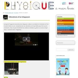 Vidéo visualisation des vibrations d'un diapason
