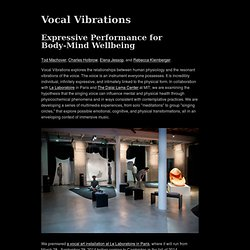 Vocal Vibrations: Expressive Performance for Body-Mind Wellbeing