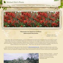 Viburnum for American Gardens - Michael Dirr's Plants