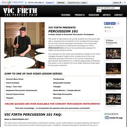 Vic Firth Presents: Percussion 101