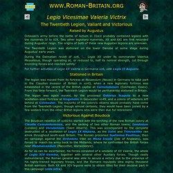 LEG XX VV - Roman-Britain.org