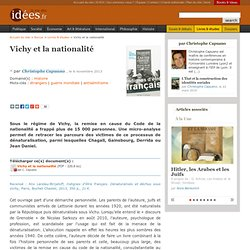Vichy et la nationalité