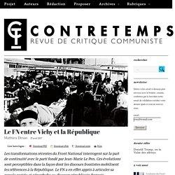 Le FN entre Vichy et la République – CONTRETEMPS