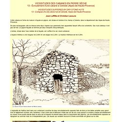 Vicissitudes des cabanes en pierre sèche : 13 - Ecroulement d'une cabane à Céreste (Alpes-de-Haute-Provence)