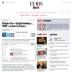 Victime d'un «Google bombing», l'UMP «va tuer la France»
