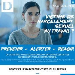 Victime de harcèlement sexuel au travail ?